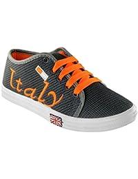 Sapatos Grey & Orange Casual Shoes