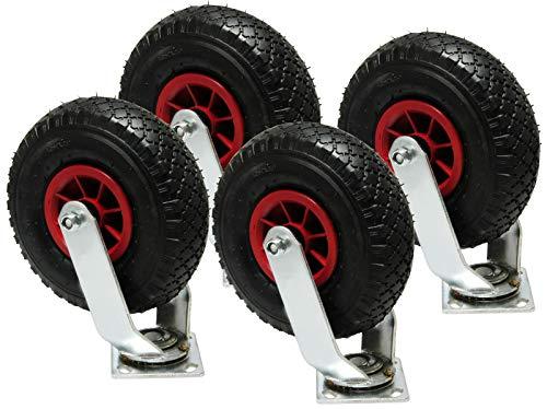 4 pcs rueda giratoria 260 mm x 85 mm plástico-llanta cojinete de agujas