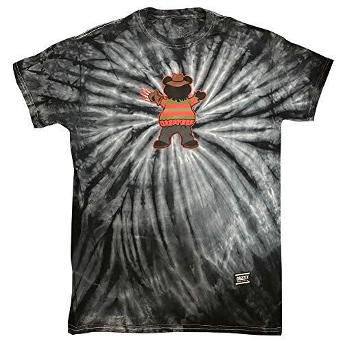 Grizzly Griptape Men's Horror Freddy T Shirt Tie-Dye XL