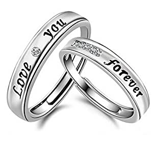 19 Likes silver acrylic Couple ring for Men & Women