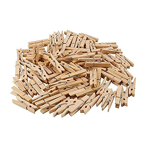 CCINEE 45mm Wooden Clothespins for Photo Clips Pegs Scrap Booking Crafts,200 pieces