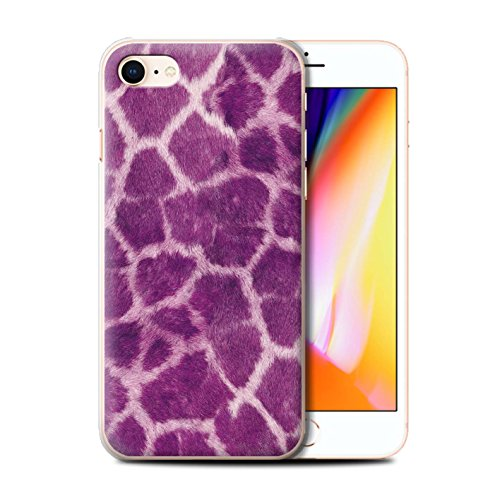 Stuff4 Hülle / Case für Apple iPhone 8 / Grün Muster / Giraffe Tier Haut/Print Kollektion Lila
