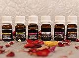 #1: Collectible India Set Of 6 Pure Therapeutic Aroma Oil 10 ml( Rose, Jasmine, Lavender, Lemongrass and Lemon Sandalwood )