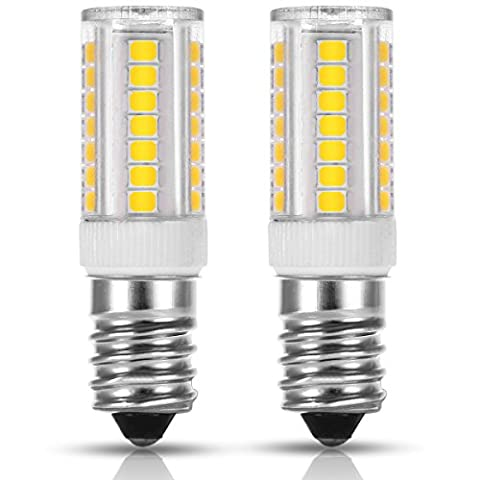 LOHAS E14 SES LED Bulbs, 5W Replace 40W Bulbs, 3000K Warm White Small edison screw light, 400lm, 360° Beam Angle, Non Dimmable, 2-Pack