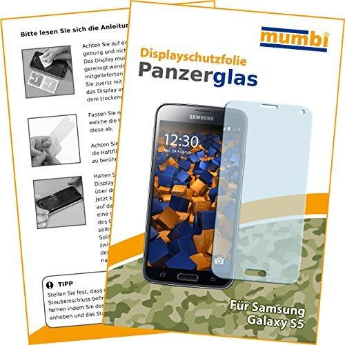 mumbi Hart Glas Folie kompatibel mit Samsung Galaxy S5 Panzerfolie, Schutzfolie Schutzglas (1x) (S5 Reparatur-service Galaxy)
