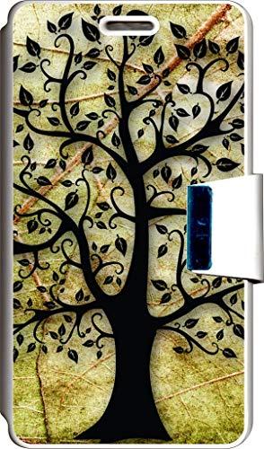 SUPER STICKER Funda Libro para LG L Bello Cover Flip Blanco, con Dibujo, Ref: 11