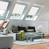 Orignal VELUX Verdunkelungsrollo DSL M04 1025 / Bedienart : Solar / Farbe : Uni Weiß / Fenstergröße : 304 / Fenstertypen : GGL, GPL, GHL, GTL, GXL
