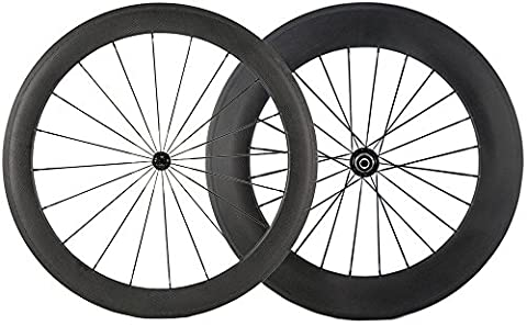 WINDBREAK BIKE 1 pair of Front 60mm Rear 88mm Carbon Wheelset 700c Clincher Wheel Cycling Road