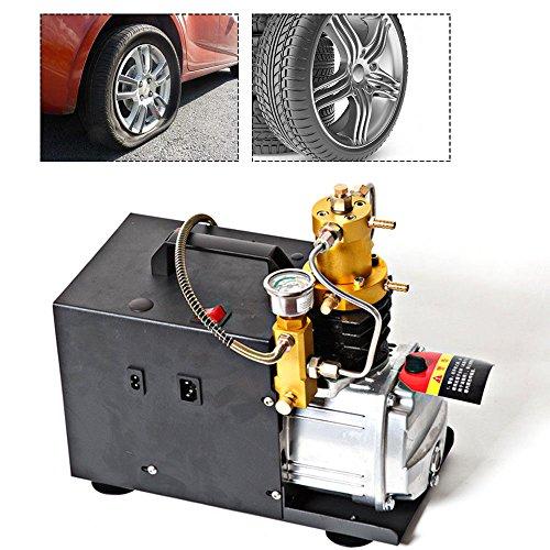 Pompe à air haute pression, 30 MPA 220 V électrique PCP Pompe à compresseur d'air, pistolet à air 4500 PSI Convient pour la plongée, les bouteilles de voiture, les vélos et les pneus de vélo