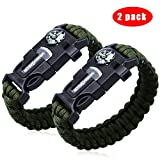 2 PACK Multifunktional Paracord Armband