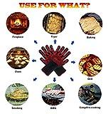 Grillhandschuhe, Silikon Aramidfasern,Kochenhandschuh,Bis Zu 500 °C - Finger-Design Zum Schutz Gegen Schneiden, Hitzebeständiger Handschuh Für Barbecue, Küche, Backofen, Mikrowellenherd (1 Paar),Red