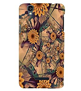 PRINTSWAG FLOWERS PATTERN Designer Back Cover Case for MICROMAX YU YUREKA