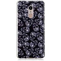 BONROY Hülle Case,Dünn Crystal Clear Transparent Tasche Handyhülle Cover Soft Premium-TPU Durchsichtige Schutzhülle Backcover für Xiaomi Redmi 5 Plus-(Schneeflocken)