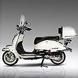 Retro Roller Artemis 125 ccm perlweiß Motorroller Scooter Moped Mofa Easy Cruiser weiß