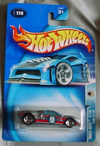 Hot Wheels 2003 Track Aces Ford GT-40 7/10 #176 SILVER by Hot Wheels