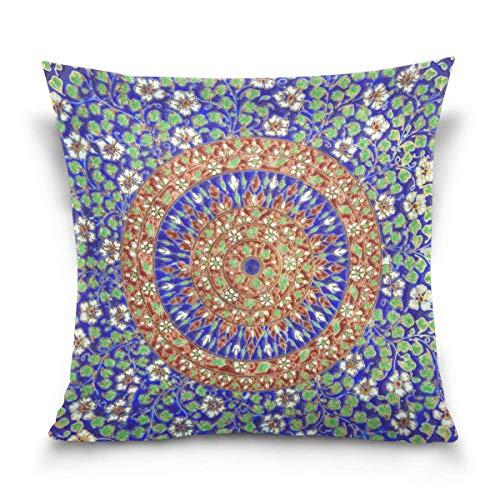 Bikofhd Kopfkissenbezüge 18X18 inch Magnolia Flower Vintage Botanical Decorative Throw Pillow Cover,Pillow Cases Cushion Cover for Home Sofa Bedding -