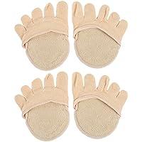 Healifty 2 Paar unsichtbare fünf Toe Topper Socken ohne Absatz Vorfuß halbe Boot Socken (Aprikose) preisvergleich bei billige-tabletten.eu