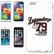 """Cubierta del Teléfono inteligente iPhone 4 / 4S """"LEGENDARIA MARCA 1979 EMPRESA KULT retro seventies"""" Cubierta Cubierta del Caso de la elegante de Shell duro de Protección párr El Teléfono Celular iPhone de Apple en White"""