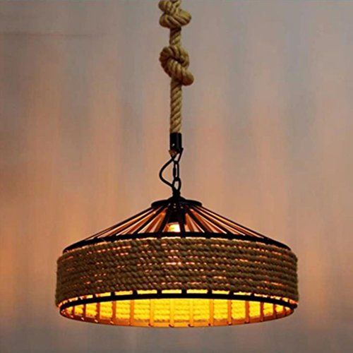 ligero Lámpara de cáñamo, Restaurante / Bar / Café Hierro Retro Industrial Winds Iluminación Máximo 40W 1 Luz Lámpara de techo ( Tamaño : 40cm )