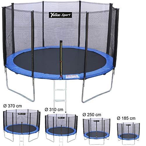 Yelloo yelloosport trampolino tappeto elastico salto bambini Ø 185 250 310 370 cm certificato ce tuv gs alta qualita blu (diametro, 250 cm)