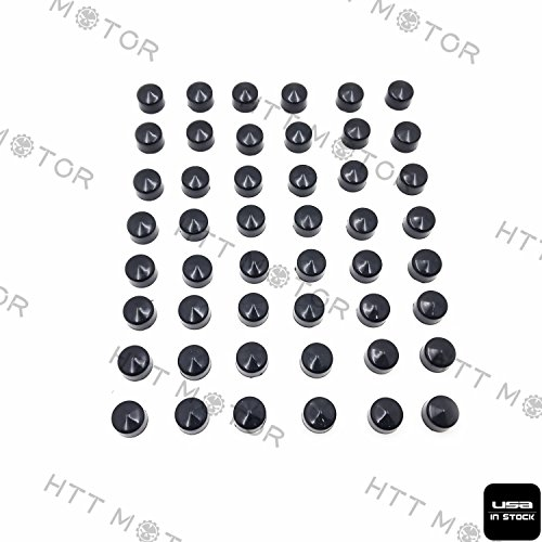 Httmt- 48 pièces Noir caches Coque kit pour 84-03 Harley Sportster Lot de moteur et Misc Boulon