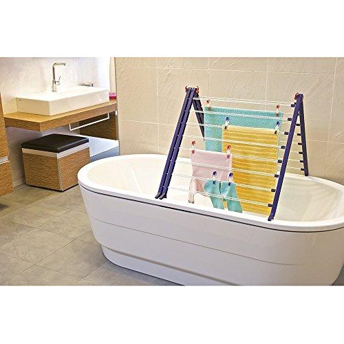 Leifheit 81702 Pegasus V Duo - Tendedero para bañera
