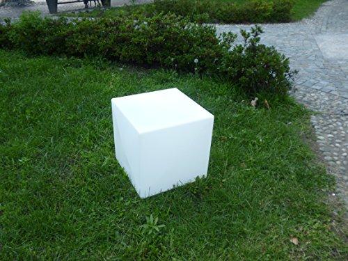 Cube lumineux 40 x 40 Imperméable Extérieur, tabouret table d'appoint LED – Lampe sur pied moderne pour jardin piscine