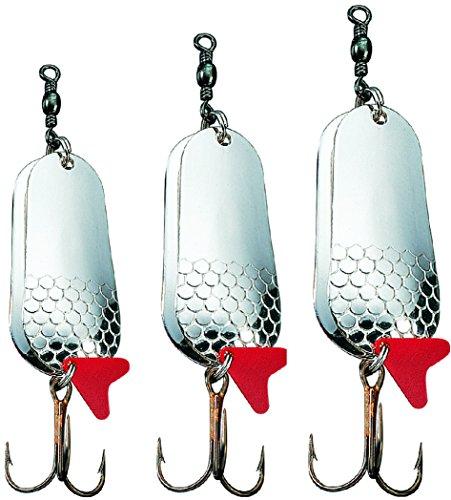 Storfisk fishing & more Doppelblinker Rassel Blinker in 4 3 Gewichten als Set, Farbe :Silber