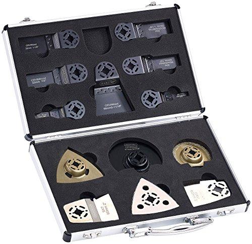 AGT Werkzeugzubehör-Koffer mit 13 Aufsätzen für Multitool AW-19.mf & MFW-5