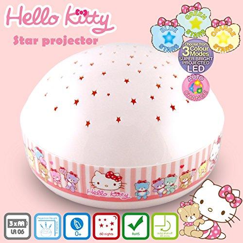 (Lumitusi Hello Kitty LED Sternenhimmel Projektor - Einschlafhilfe mit Farbspiel - Nachtlicht mit Sensor Touch als Kinderlampe Kinderlicht Nachttischlampe Nachtlampe für Baby & Kind im Kinderzimmer)