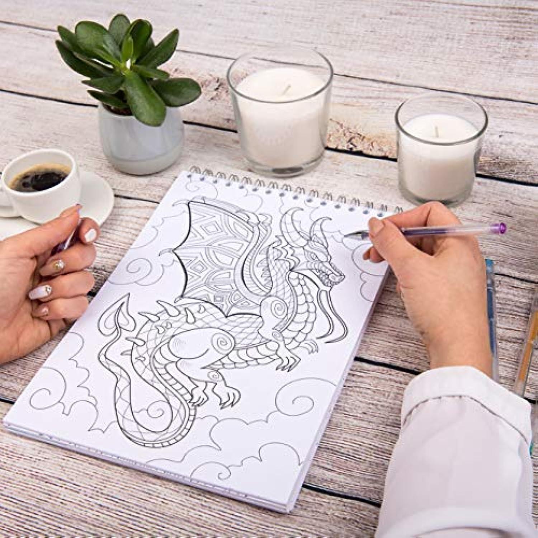 Coloriage Adulte Spirale.Le Premier Cahier De Coloriage Pour Adulte A Spirale Et Papier