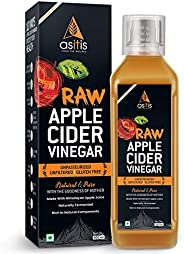 AS-IT-IS Nutrition Raw Apple Cider Vinegar with Mother 500ml- Undiluted & Unfilt