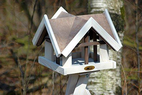 """Luxus-Vogelhaus 47880e Aufwendiges Vogelhaus im """"Antikfinish""""-Design (gescratcht) aus lasiertem Kiefernholz mit 4 Giebeln, braun/weiß - 2"""