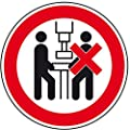 LEMAX® Verbotsschild Maschine darf nur von einer Person...,praxisbewährt,Folie,Ø 100mm