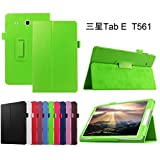 Samsung Galaxy Tab E 9.6 hülle,Mama Mouth Folding Ständer Hülle Case mit Standfunktion für 9.6' Samsung Galaxy Tab E 9.6 T560 T561 Android Tablet-PC,Grün