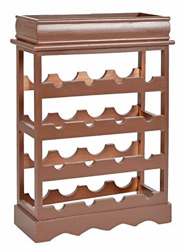 ts-ideen Botellero estante estantería de madera shabby look para 16 botellas de...