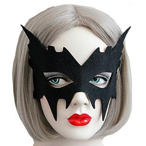 Bigood Masque Noir Femme Dentelle Mascarade Déguisement Mask Party Bar Halloween Danse