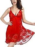 Tyhbelle Womens Lingerie Set Babydoll Ladies Sleepwear Chemises Nightwear Outfit Underwear with G-String
