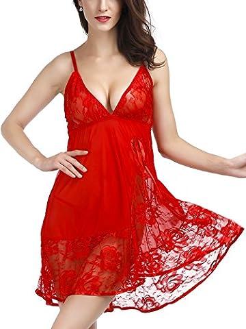 Tyhbelle Women's Sexy Lingerie Babydoll Ladies Sleepwear Chemises Nightwear Outfit