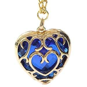 Zelda Collier Pédant Pour filles Cadeaux Legend of Zelda Collier Coeur Cosplay Accessoires Bleu