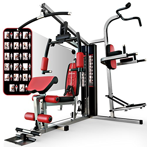 Sportstech Einzigartige 45in1 Premium Kraftstation HGX100/HGX200 für unzählige Trainingsvarianten Multifunktions-Homegym mit Stepper, Fitnessstation aus Eva Material für Zuhause- Robuste Konstruktion (Multi Sport Stepper)