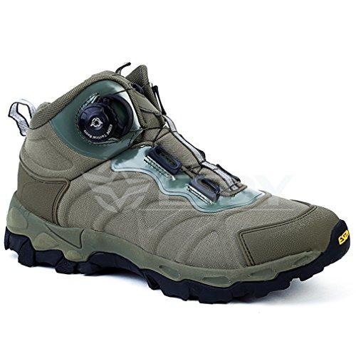 emansmoer Herren Wasserdicht Atmungsaktiv Outdoor Sport Klettern Wandern Trekking Stiefel High-top Armee Combat Schuhe Grün