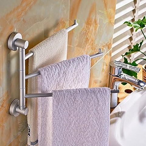 SDKKY Tournez Tournez le levier 2340 sèche-serviettes de bains santé est petit montage en rack serviette sèche-serviettes aluminium activités spatiales , faites tourner les quatre tiges filetées [Deluxe Edition