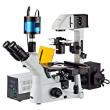 amscope in480tc-fl-mf60340x, 1.500x seitenverkehrt phase-contrast + Fluoreszenz Mikroskop mit 6MP Extreme Licht Kamera