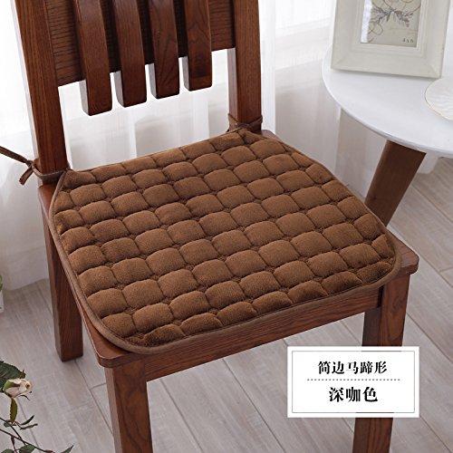 CLG-FLY quattro stagioni invernali di peluche imbottito sedia cuscino pad slittamento del tessuto studenti sedia (Slittamento Forme)