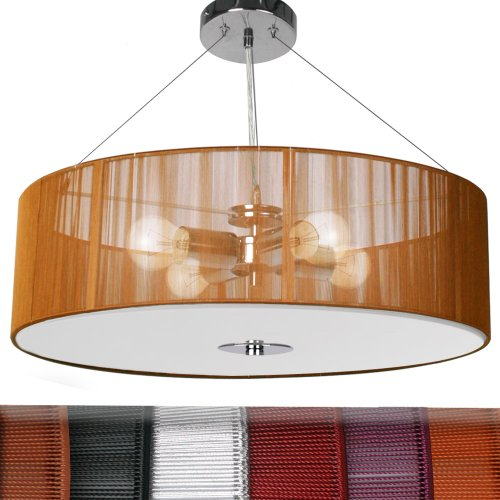 Jago Lampada lampadario a sospensione design retrò ca. 50/50/71 cm 4 ...
