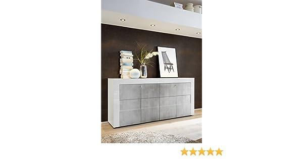 Credenza Moderna Cemento : Arredocasagmb.it mobile contenitore 4 ante bianco lucido