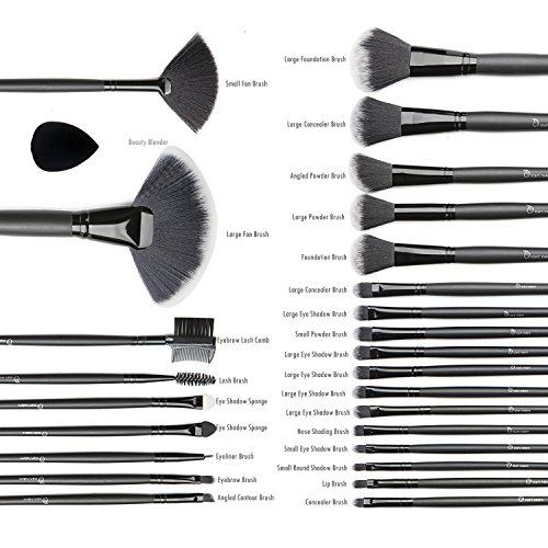 Make Up Brushes & Beauty Blender, Start Makers Makeup Brushes Cosmetics Professional Essential 32+1 Piece Make Up Brush Set Kits with Foldable pouch and Gift box