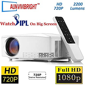89dd92cc840166 AUN VIVIBRIGHT C80/C80UP 720P HD Home Theater Projector Supports 1920 *  1080, 2200 Lumens Brightness Video Projector (Basic Version)