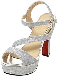 cercare nuovo stile migliore vendita Amazon.it: Sandali Eleganti Argento - Scarpe da donna ...